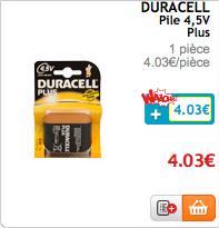 Pile Duracell C, 9V ou LR20 100 % remboursées sur la carte fidélité