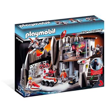 Playmobil Quartier général Agents Secrets avec système d'alarme