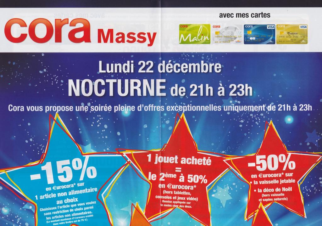 -15% en €urocora sur le produit non alimentaire de votre choix sans restriction de 21h à 23h