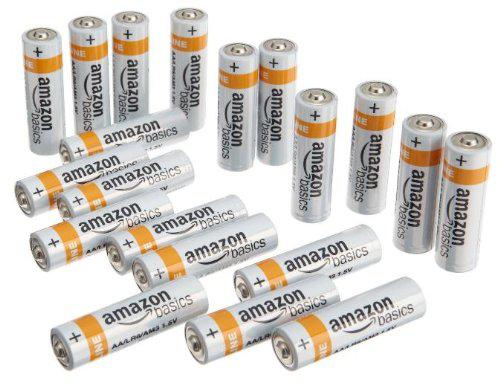 Lot 20 piles alcalines AmazonBasics AA ou AAA