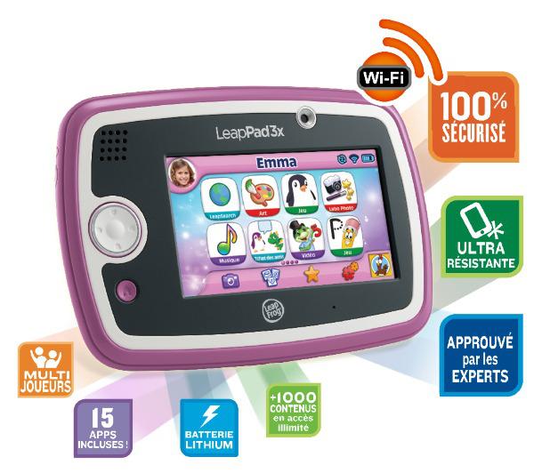 Tablette tactile Leapfrog LeapPad 3x - Rose