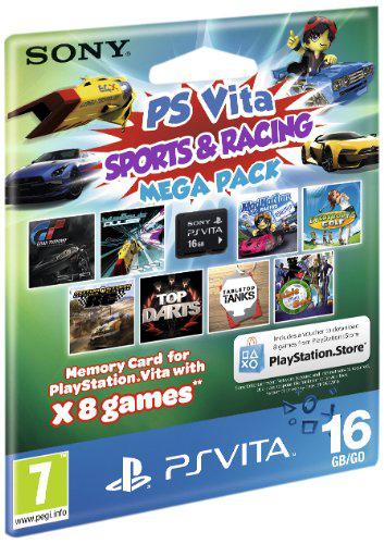 Pack Sports and Racing Mega pack PS Vita + Carte mémoire 16Gb