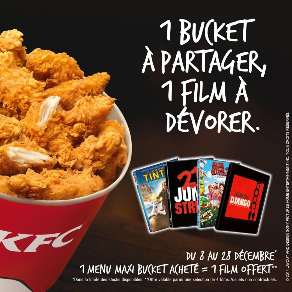 Un menu Maxi Bucket acheté = un DVD offert