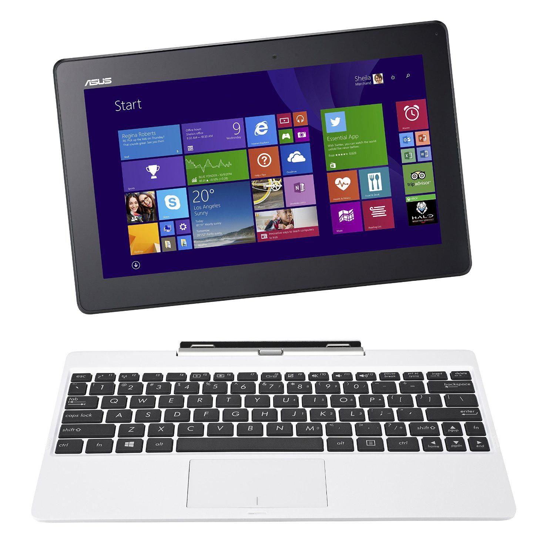 """PC Portable Hybride 10,1"""" Asus Transformer Book T100TAF Blanc + Carte Cadeau de 50€"""