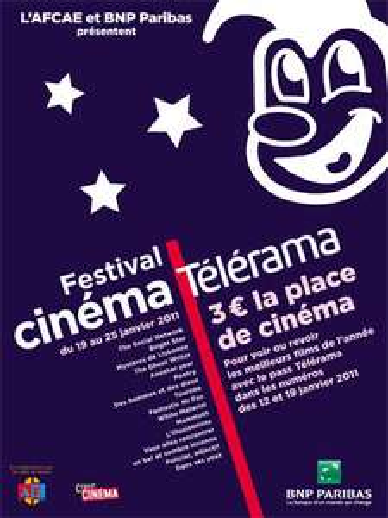 Contremarques Festival Cinéma Télérama avec BNP Paribas (3,5€ la place)