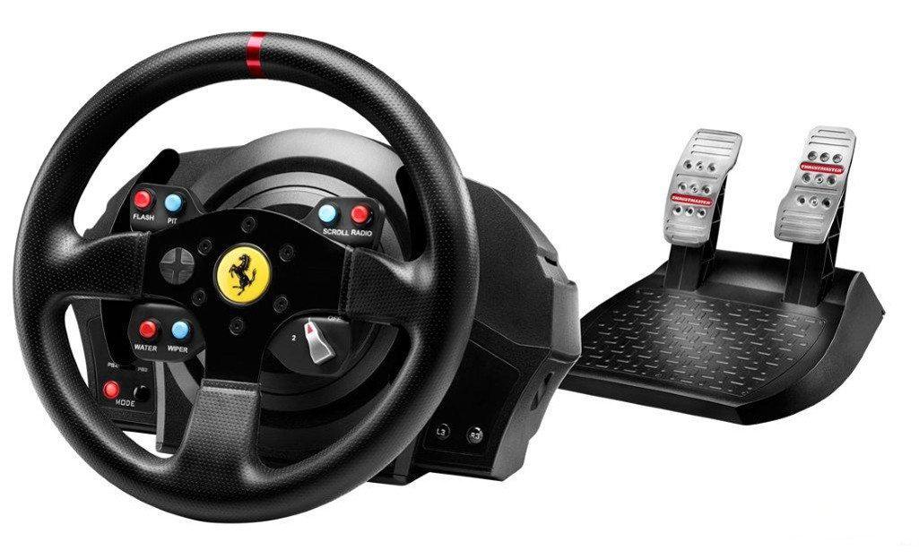Volant + Pédalier Thrustmaster T300 Ferrari GTE  pour PC et PS3/PS4