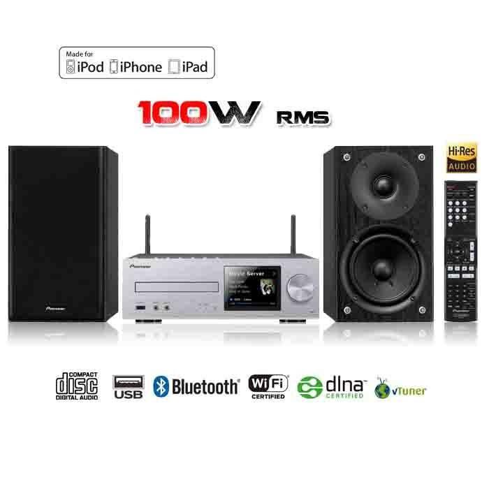 Chaine Hifi Pioneer XHM72S - Bluetooth Aptx, Wi-fi, DLNA, Airplay, écran LCD