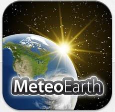 application météo MeteoEarth gratuit sur iOS