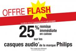 25% de remise immédiate sur les casques audio Philips (Hors casque pour téléviseurs)