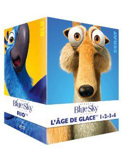 Coffret Blue Sky  [Blu-ray] : L'intégrale des 8 films (L'Age de Glace 1 à 4, Rio, Robots, Epic et Horton)