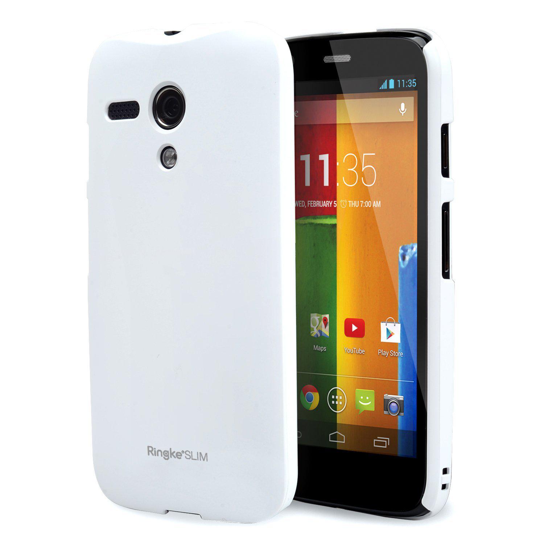 Coque Ringke Slim pour smartphone Moto G 1ère Gen (Blanc, Noir ou Transparent)