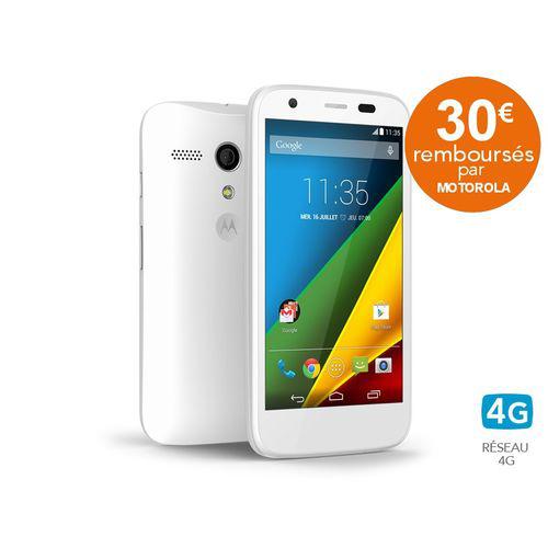 Smartphone Motorola - Moto G 4G blanc (avec ODR 30€)