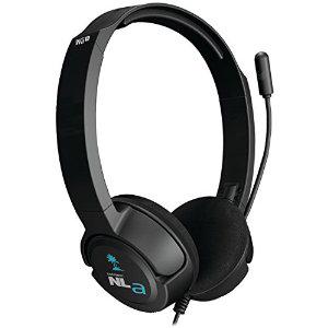 Micro-casque filaire Ear Force NLa noire pour Wii U/3DS/3DS XL/PC/Mac