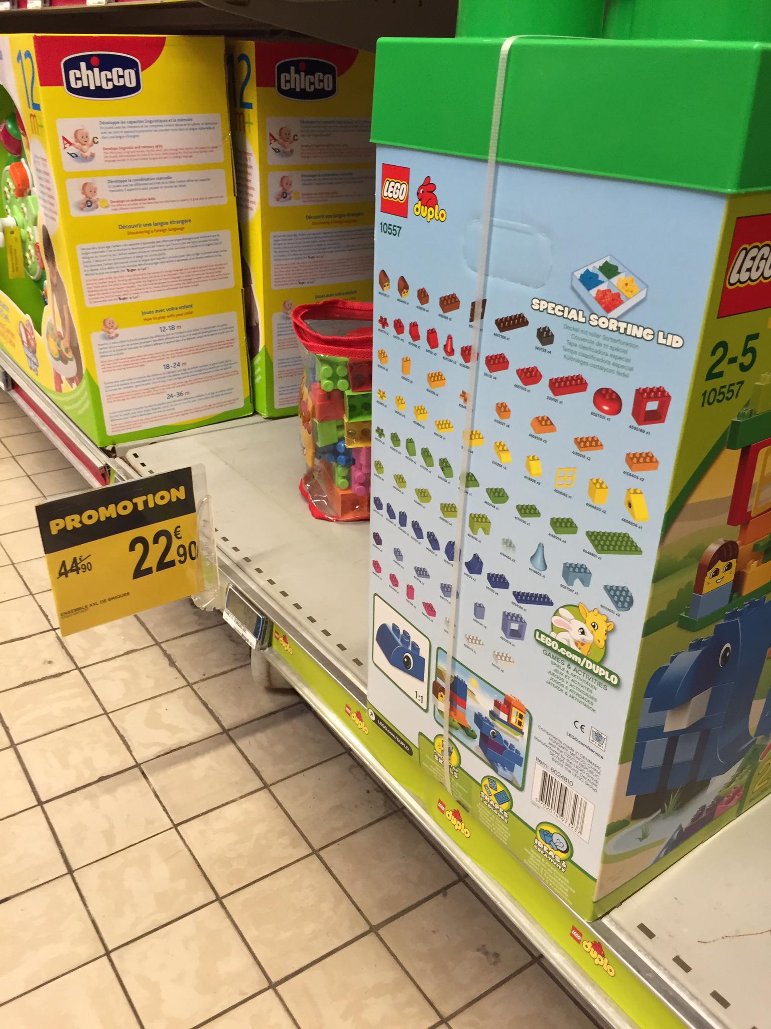 Jeu de construction LEGO Duplo 10557 XXL Boîte de 200 Briques (50% immédiat + ODR minimum de 10€)