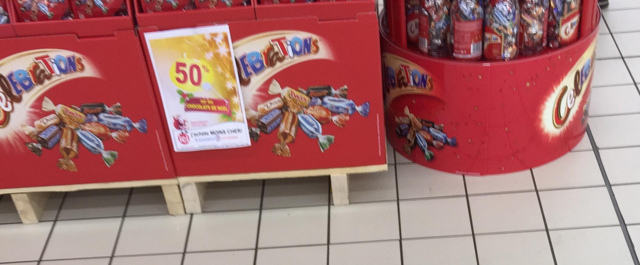 -50% de remise immédiate sur les chocolats de Noël