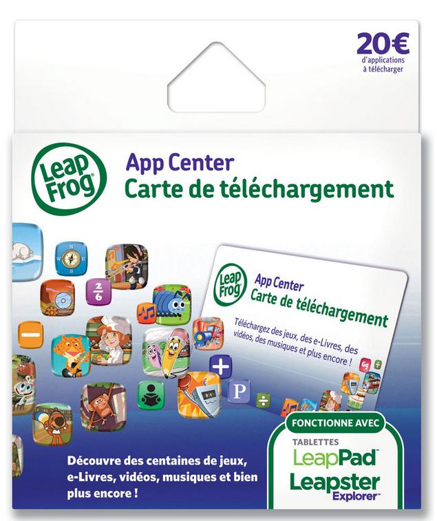 Cartes de téléchargement  Leapfrog (valeur 20€)