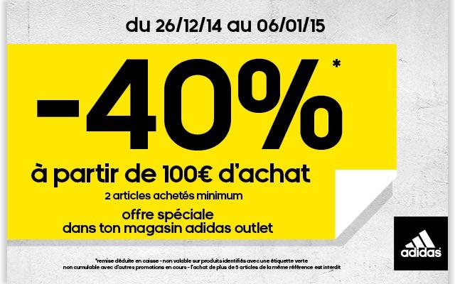 -40% dès 100€ d'achats sur une commande de 2 articles minimum