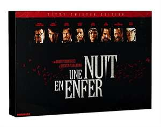 Coffret Blu-Ray Une Nuit en Enfer - Edition Ultime (l'affiche, 6 cartes postales, 3 badges, 2 verres et 1 tatoo)