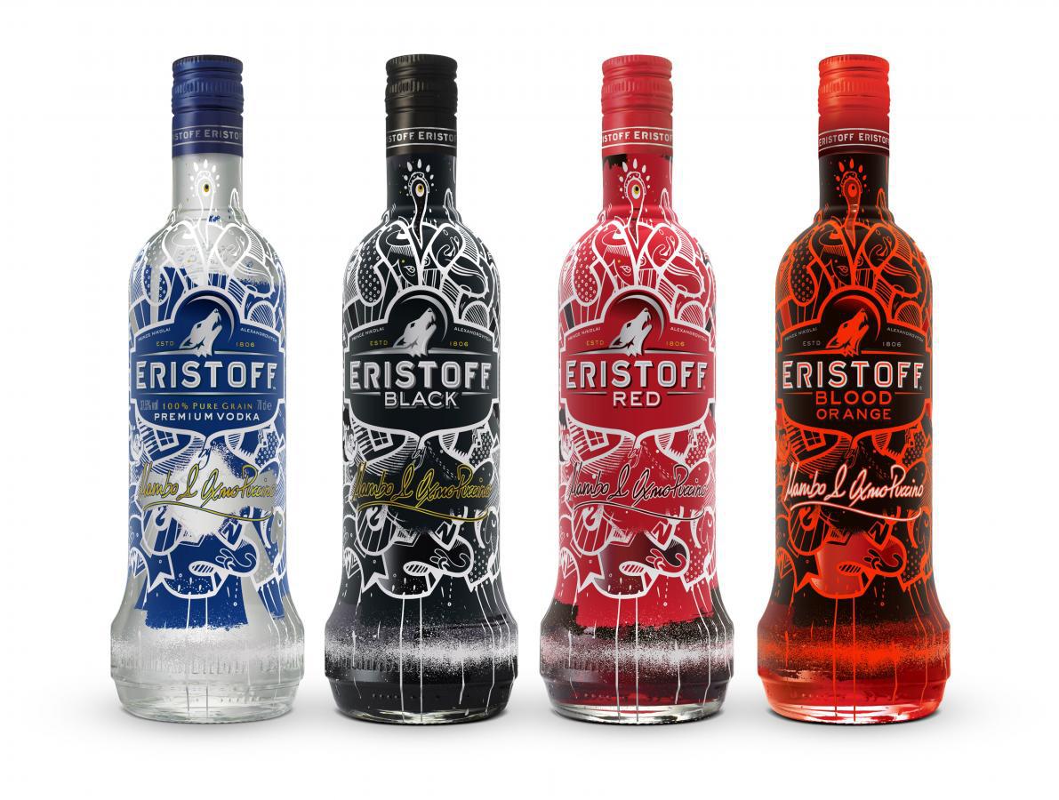 2 bouteilles Eristoff 70cl