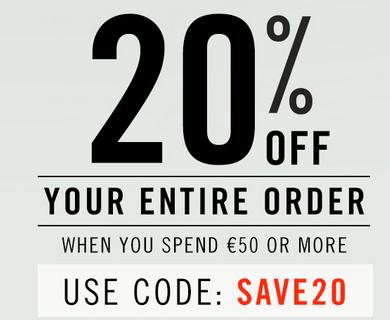 20% de remise dès 50 € d'achat (fonctionne sur les soldes) et livraison gratuite sans minimum