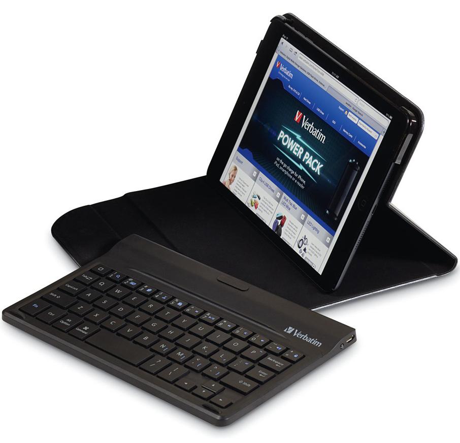Etui Folio Mini Verbatim avec Clavier Bluetooth pour iPad Mini  (avec ou sans écran Retina)