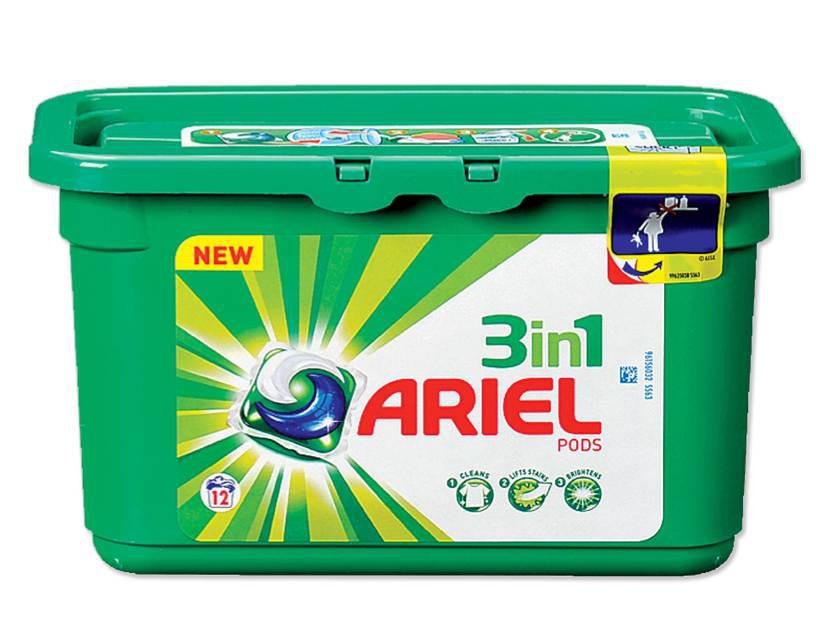2 packs Lessive capsules Ariel 3 en 1 pods (30 lavages) via C-Wallet+BDR