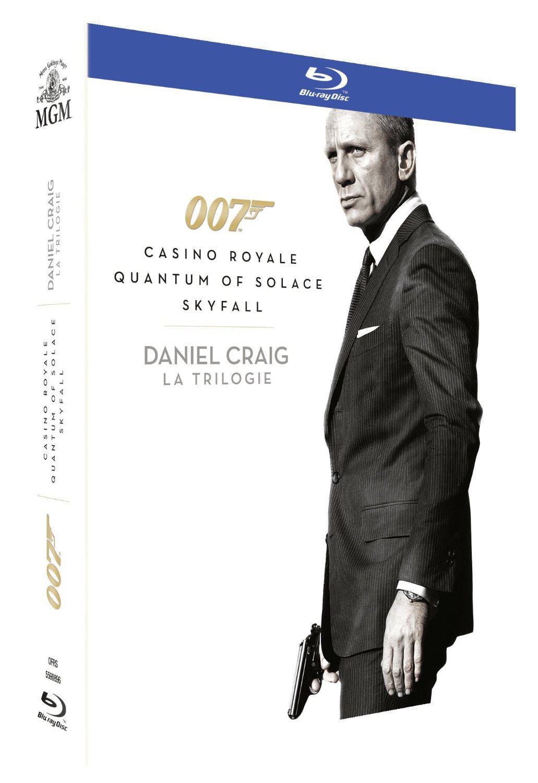 Coffret Blu-ray James Bond 007 - Daniel Craig : La Trilogie : Casino Royale + Quantum of Solace + Skyfall