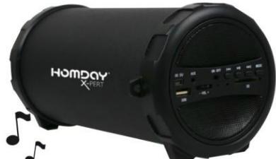 Enceinte bluetooth HomDay (2x5W, Caisson basse intégré)