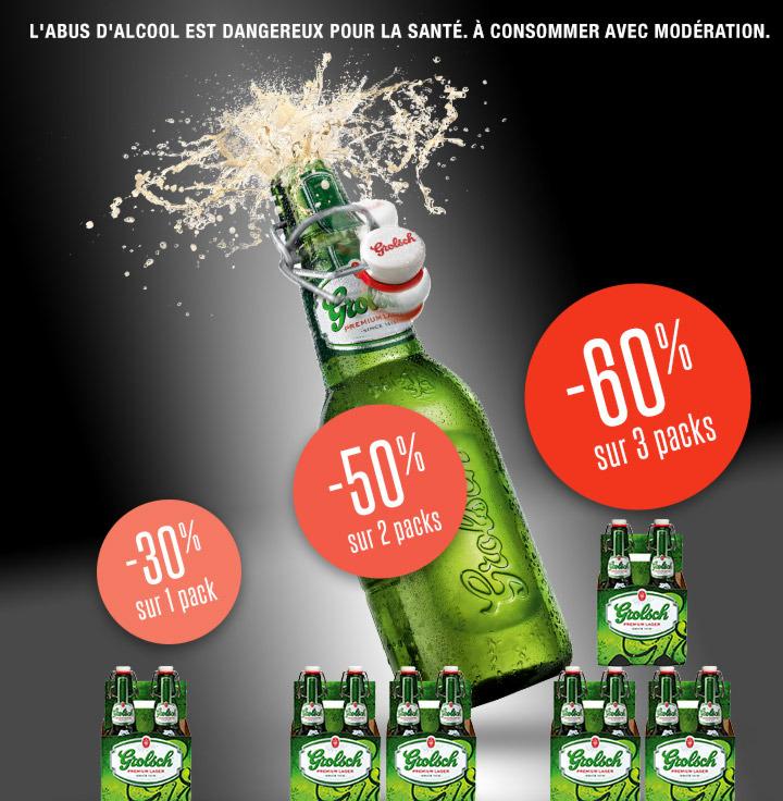 3 Packs de 6 bières Grolsch (Shopmium + BDR + C-Wallet)