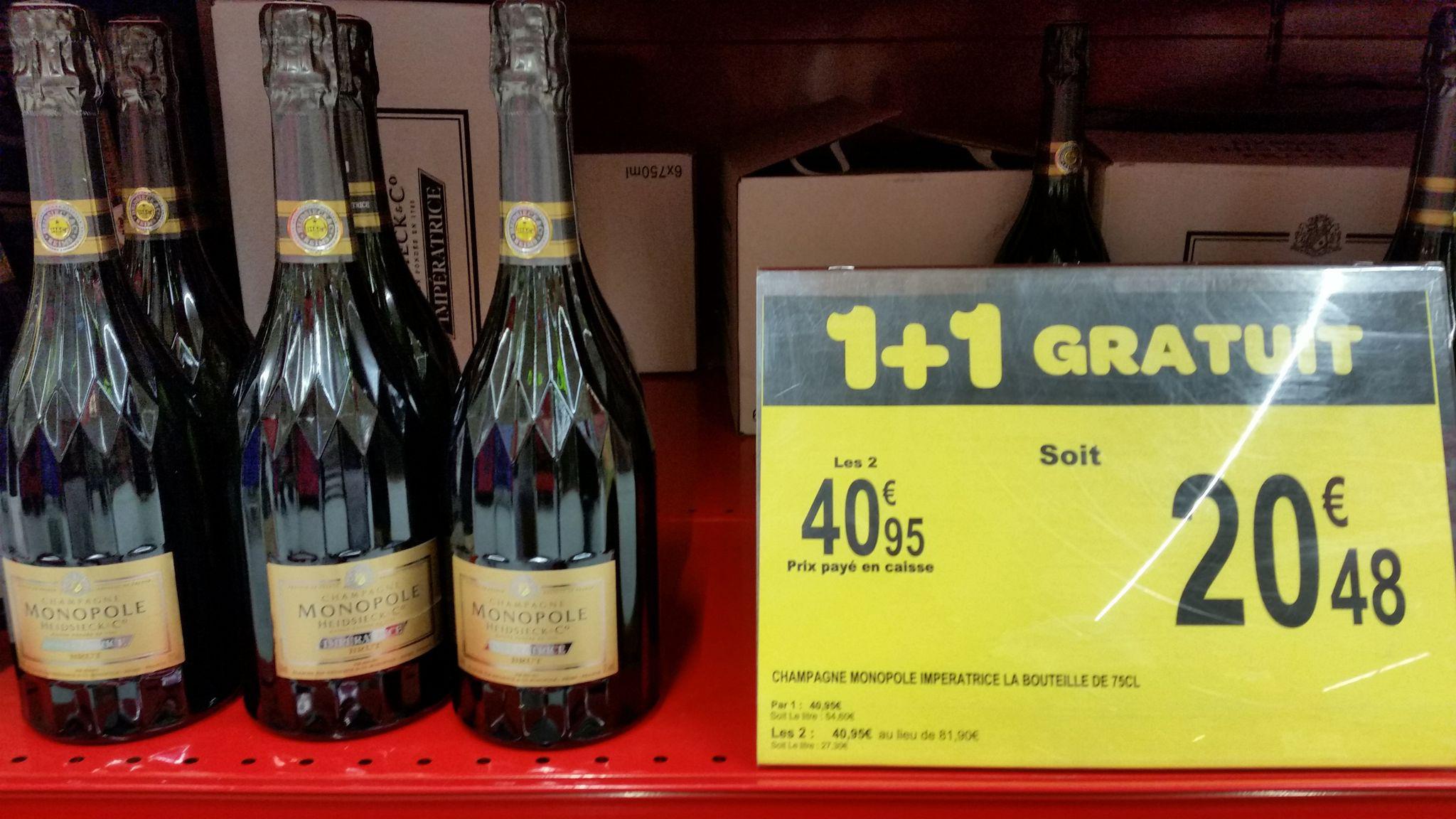 2 Bouteilles de Champagne Monopole Imperatrice Heidsieck
