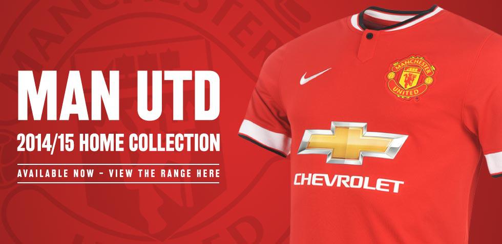 Maillots de foot de la saison 2014-2015 en promotion - Ex: Maillot Manchester United Domicile