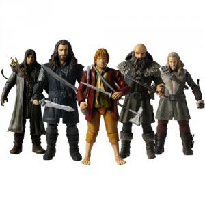 Pack de 5 Figurines Articulées The Hobbit