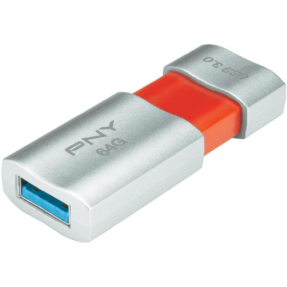 Clé USB 3.0 PNY FD64GBWAVE30-EF 64 Go Blanc/Rouge