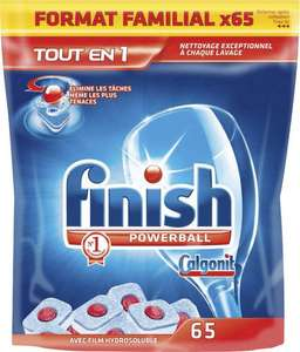 2 lots de 65 tablettes lave vaisselle Finish Powerball