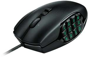 Souris Filaire Logitech Gaming Mouse G600 MMO - 20 boutons - Noire