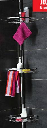 Etagere de douche télescopique - barre en acier