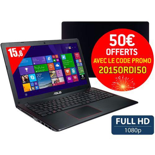"PC Portable 15,6"" Asus R510JK-DM177H - Full HD - i5-4200H - 1 To - RAM 8 Go - GTX 850 - Win 8.1"