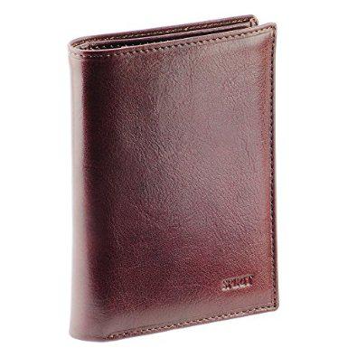 Grand portefeuille en cuir véritable O.T. Spirit Choco N1557 - Marron
