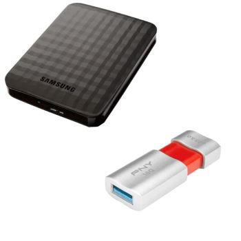 "Disque dur externe 2.5"" Samsung M3 1To + Clé USB 3.0 16 Go PNY"