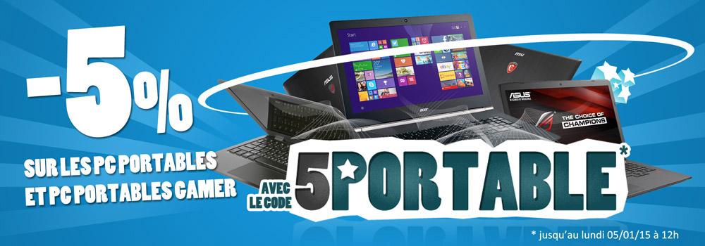 -5% sur les PC Portables
