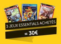 3 jeux sur PS3 ou PS Vita parmi une sélection