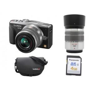 Appareil photo Panasonic GF6 + Objectifs 14-42 & 45-150 + Carte SD 4 Go + étui Panasonic
