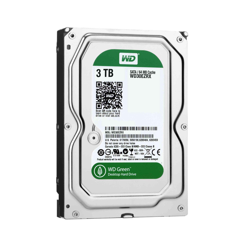 "Disque dur interne 3,5"" Western Digital WD30EZRX - 3To 5400 Tr/min Sata 6Gb/s - Version boite"