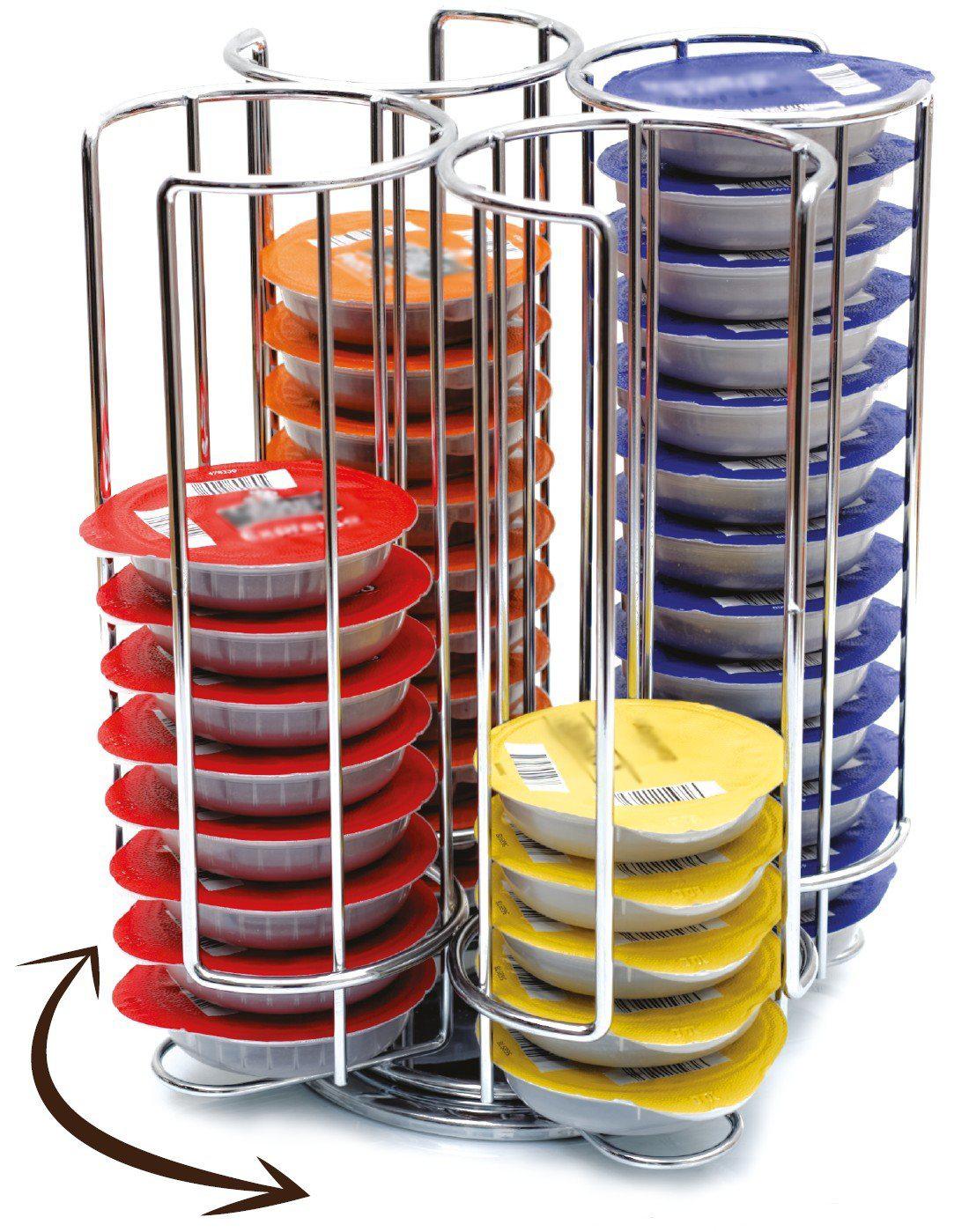 Porte Capsules Distributeur Présentoir Rotatif pour 52 capsules Tassimo