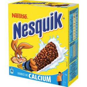 2 paquets de 6 barres Nesquik ou Chocapic (BDR de 1.10€)