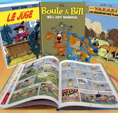 Sélection de BD (Boule et Bill, Lucky Luke, Yakari, Cédric), l'unité