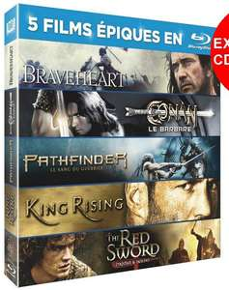 Coffret 5 Blu-Ray (Braveheart, Pathfinder, Red Sword...)