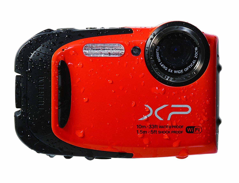 Appareil photo étanche Fujifilm Finepix XP70 Rouge + Sac Jaune