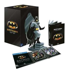 Coffret Collector Batman : 4 Films (1989-1997) DVD + Blu-Ray + Statue Batman