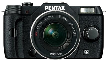 Hybride numérique Pentax Q10 noir + objectifs 5-15mm & 15-45mm